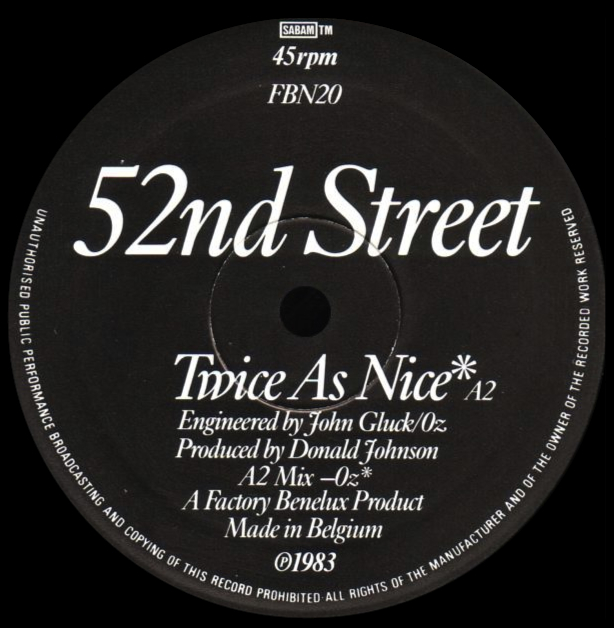 52nd Street 'Twice As Nice'