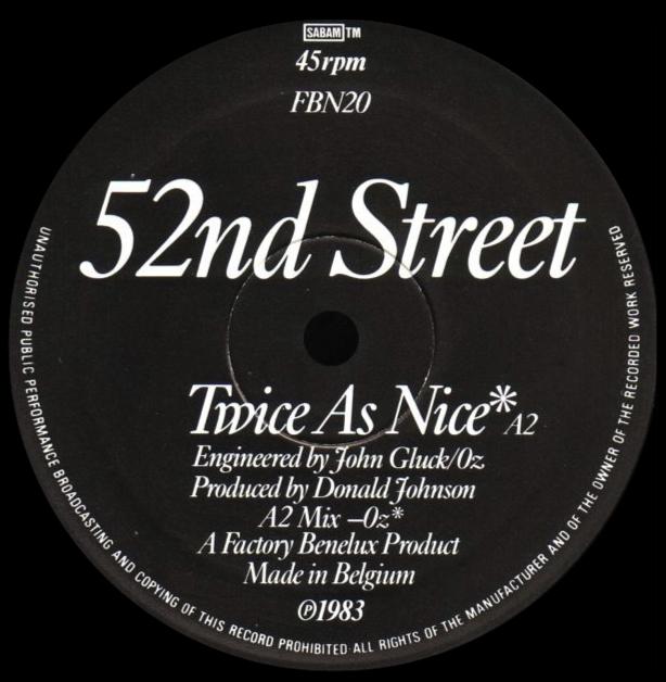 52nd Street 'Twice As Nice'
