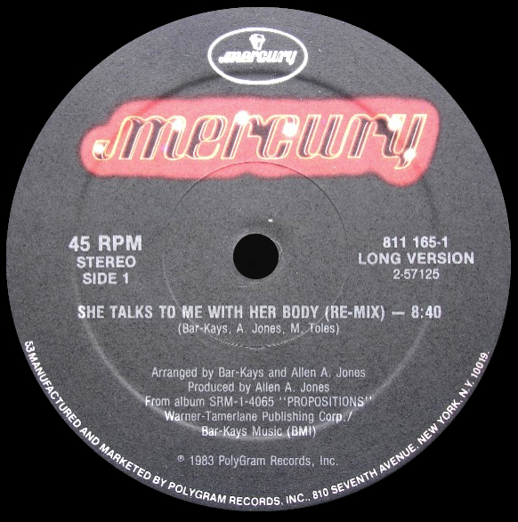 Bar-Kays 'She Talks To Me With Her Body'
