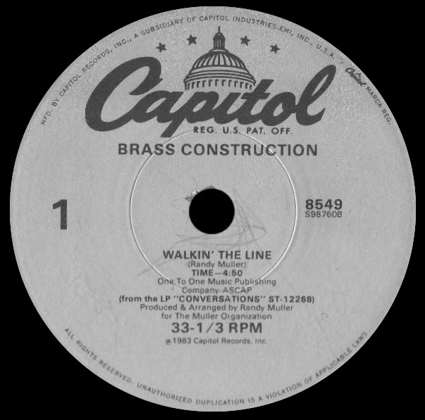 Brass Construction 'Walkin' The Line'