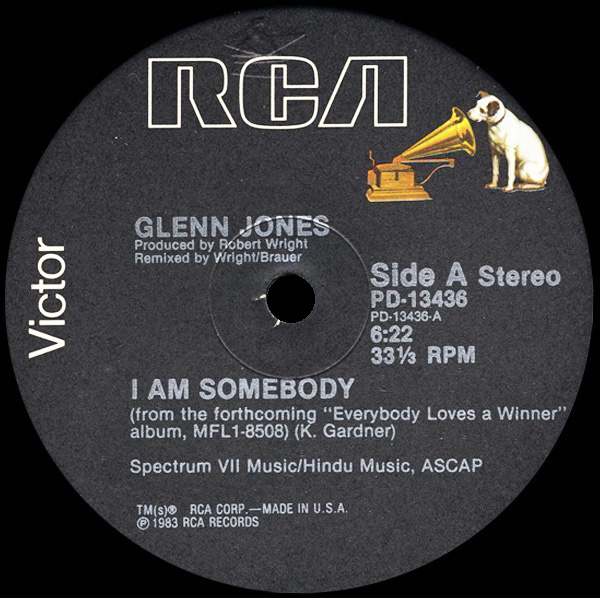Glenn Jones - I Am Somebody / Keep On Doin' (What You're Doin')