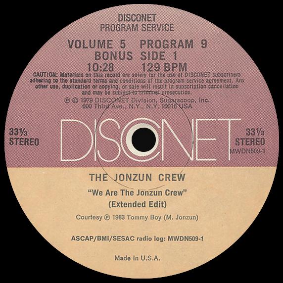 The Jonzun Crew 'We Are The Jonzun Crew' (Disconet)