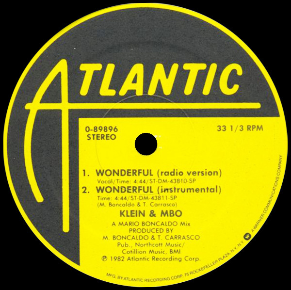 Klein & MBO 'Wonderful' (Instrumental)
