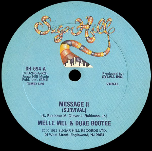 Melle Mel & Duke Bootee 'Message II (Survival)'