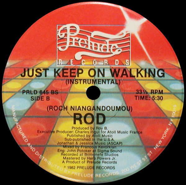Rod 'Just Keep On Walking' (Instrumental)